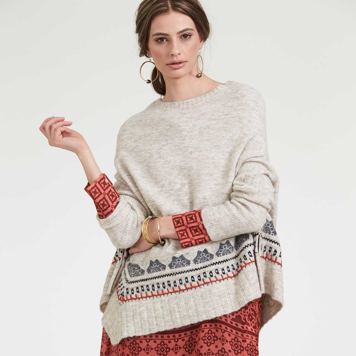 Loobies Story Sketch Poncho Terrace Tunic